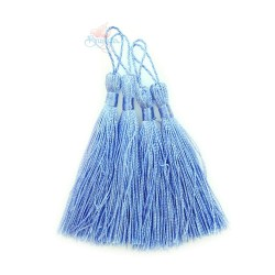 #066 Cotton Tassel 8cm - Cornflower Blue (4pcs)