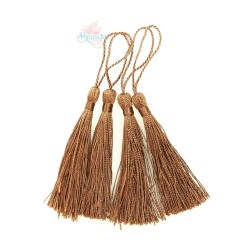#066 Cotton Tassel 8cm - Light Brown (4pcs)