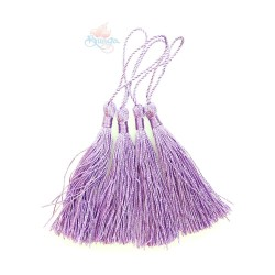 #066 Cotton Tassel 8cm - Light Purple (4pcs)