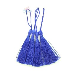 #066 Cotton Tassel 8cm - Royal Blue (4pcs)