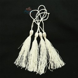 #066 Cotton Tassel 8cm - White Ivory (4pcs)