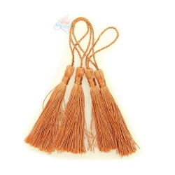 #066 Cotton Tassel 8cm - Rust (4pcs)