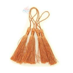 #066 Cotton Tassel 8cm - Rust (4pcs)
