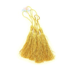 #066 Cotton Tassel 8cm - Dark Gold (4pcs)