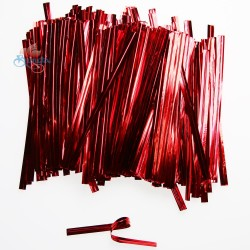 Red Foil Twist Tie - 370pcs/pack