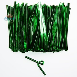Green Foil Twist Tie - 370pcs/pack