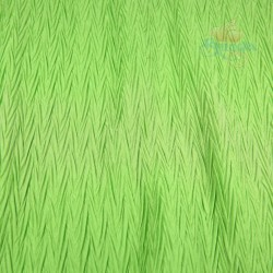 "Zig Zag Polyester Silk Pleated Grass Green 60"" Wide - 2 Meters"