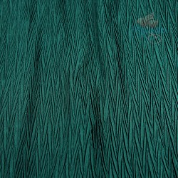 "Zig Zag Polyester Silk Pleated Green 60"" Wide - 2 Meters"