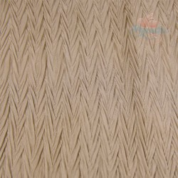 "Zig Zag Polyester Silk Pleated Marsh Brown 60"" Wide - 2 Meters"