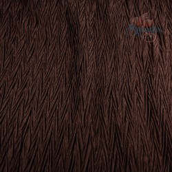 Polisilk Zig Zag Pleated 60 inch - Coco Brown 570