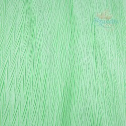 "Zig Zag Polyester Silk Pleated Light Green 60"" Wide - 2 Meters"