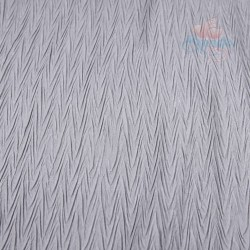 "Zig Zag Polyester Silk Pleated Light Grey 60"" Wide - 2 Meters"