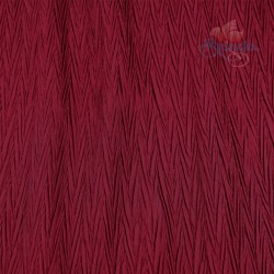 "Zig Zag Polyester Silk Pleated Maroon 60"" Wide - 2 Meters"