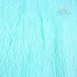 "Zig Zag Polyester Silk Pleated Mint Green 60"" Wide - 2 Meters"