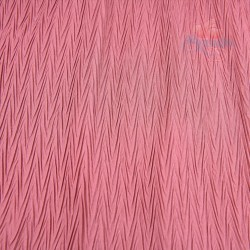 "Zig Zag Polyester Silk Pleated Rose Magenta 60"" Wide - 2 Meters"