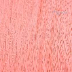 "Zig Zag Polyester Silk Pleated Salmon 60"" Wide - 2 Meters"