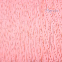 "Zig Zag Polyester Silk Pleated Soft Pink 60"" Wide - 2 Meters"
