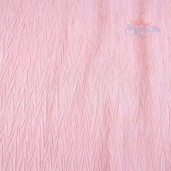 "Zig Zag Polyester Silk Pleated White Pink 60"" Wide - 2 Meters"