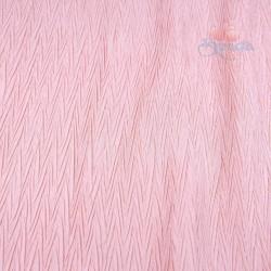 Polisilk Zig Zag Pleated 60 inch - White Pink 274